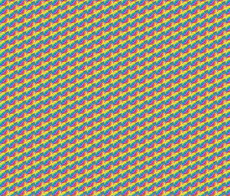 Rainbow Diagonal fabric by ravynscache on Spoonflower - custom fabric
