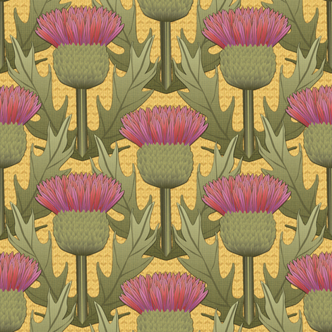 honey and thistle fabric by glimmericks on Spoonflower - custom fabric
