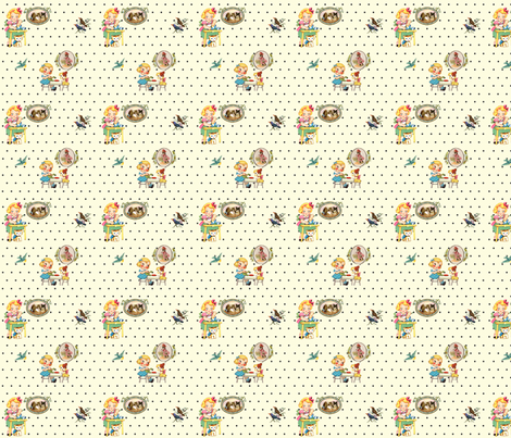 vintage kitchen fabric by krs_expressions on Spoonflower - custom fabric