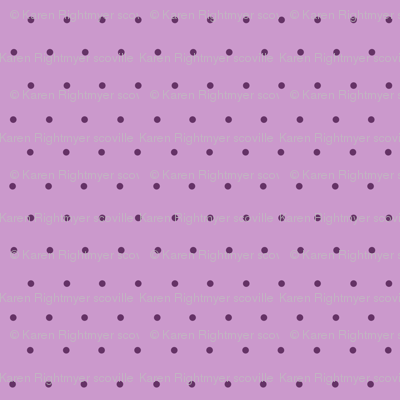 purple polka dots