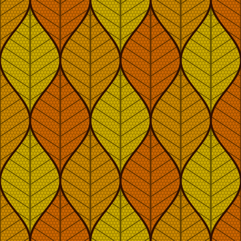 symmetric sine leaf 3 - autumn fabric by sef on Spoonflower - custom fabric