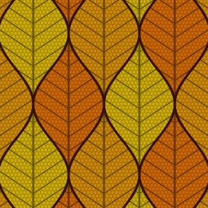 symmetric sine leaf 3 - autumn