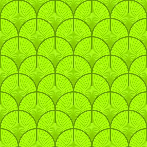 ginko / gingko biloba leaf fabric by sef on Spoonflower - custom fabric