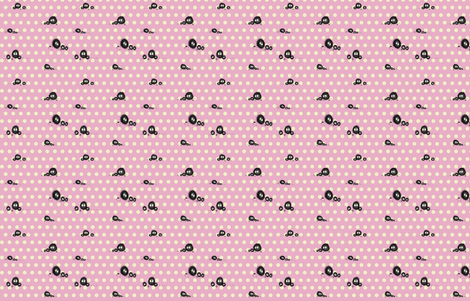 Totoro Soot Sprites Pink! fabric by retropopsugar on Spoonflower - custom fabric