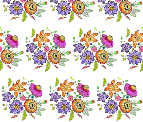 posy fabric by kerryn on Spoonflower - custom fabric