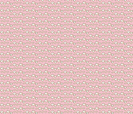 Hearts in Bloom Pink fabric by lucyblaire on Spoonflower - custom fabric