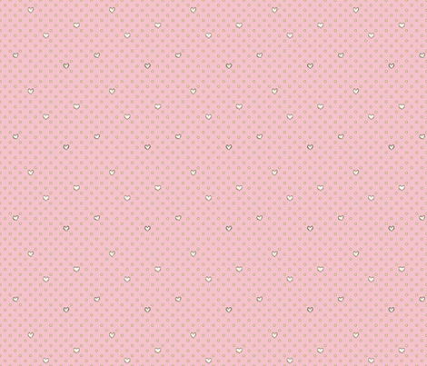 Love for Dots Pink fabric by lucyblaire on Spoonflower - custom fabric