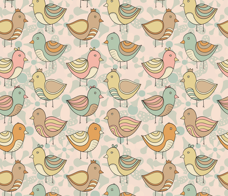 birdy fabric by dinaramay on Spoonflower - custom fabric