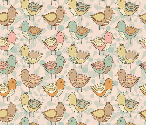 birdy fabric by khandisha on Spoonflower - custom fabric