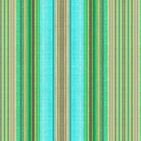 Cabana Beach Stripe in blue green and taupe fabric by joanmclemore on Spoonflower - custom fabric