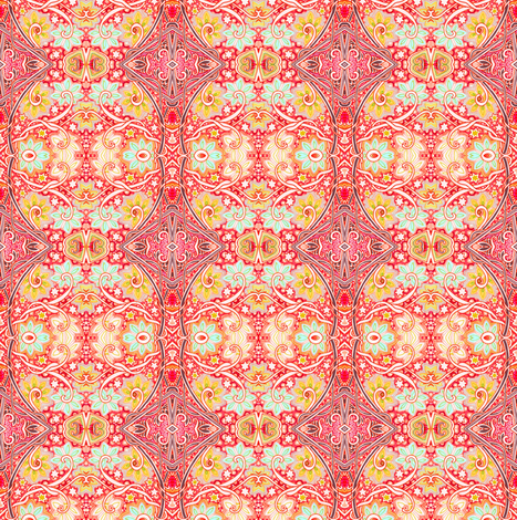 Can't Wait For Spring's  Warm Days fabric by edsel2084 on Spoonflower - custom fabric