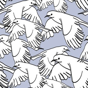 Flock of Birds Soft Blue