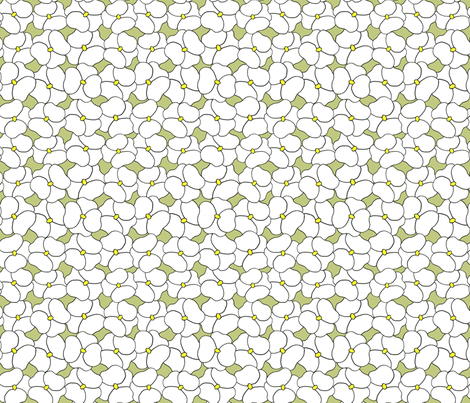 Pansy Field Sage Green fabric by eastcamphome on Spoonflower - custom fabric