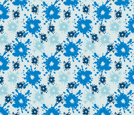 Paintball Splatter - light blue fabric by rusticcorgi on Spoonflower - custom fabric