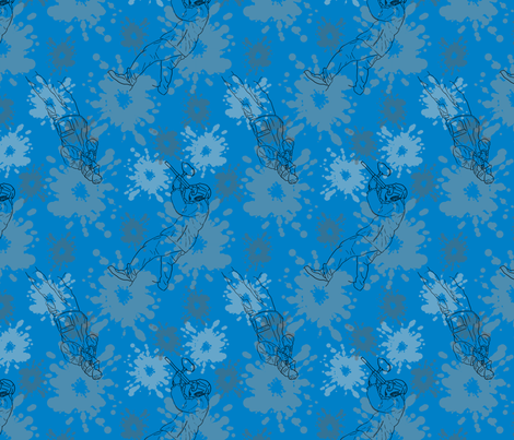 Paintball Warriors - dark blue fabric by rusticcorgi on Spoonflower - custom fabric