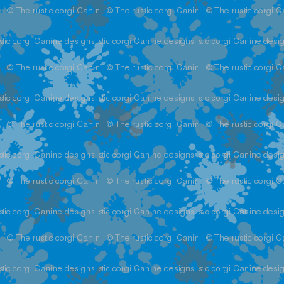 Paintball Splatter - dark blue