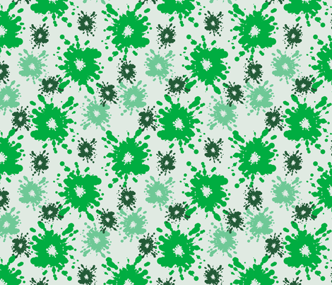 Paintball Splatter - light green fabric by rusticcorgi on Spoonflower - custom fabric