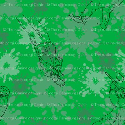 Paintball Warriors - dark green