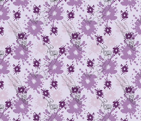 Paintball Warriors - light purple fabric by rusticcorgi on Spoonflower - custom fabric