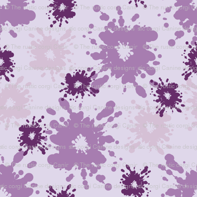 Paintball Splatter - light purple