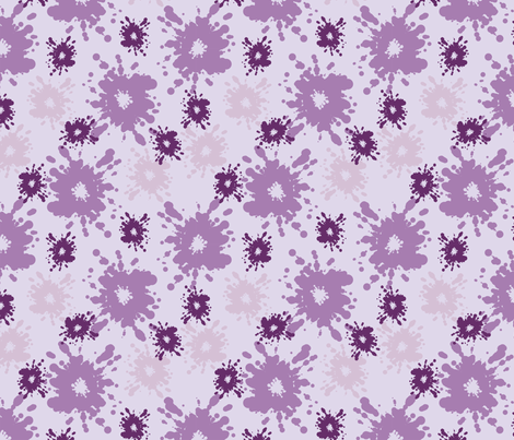 Paintball Splatter - light purple fabric by rusticcorgi on Spoonflower - custom fabric