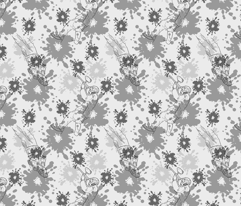Paintball Warriors - silver fabric by rusticcorgi on Spoonflower - custom fabric