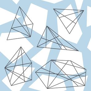 Blue Gray Geometric