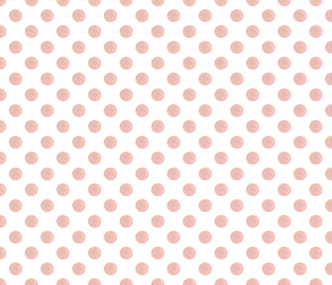 Pink French Script Polka Dots
