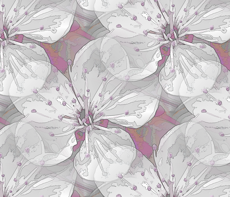 Blossom in Pink fabric by miart on Spoonflower - custom fabric