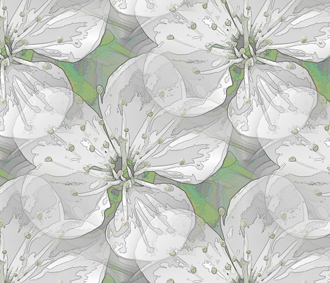 Blossom in Green fabric by miart on Spoonflower - custom fabric