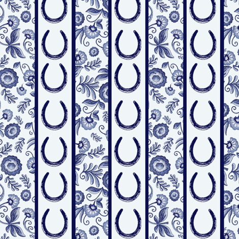 Delft Stripes fabric by ragan on Spoonflower - custom fabric