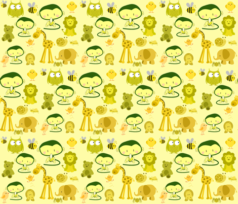 I'M CRAZY ABOUT YOU BABY! fabric by bluevelvet on Spoonflower - custom fabric