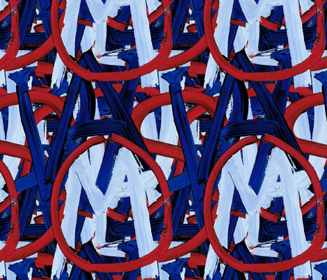 419 - Welcome to USA fabric by henriyoki on Spoonflower - custom fabric