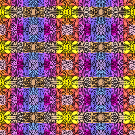 A Mid Summer's Plaid (a bright and cheerful ivy covered variation) fabric by edsel2084 on Spoonflower - custom fabric