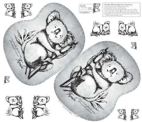 Koala fabric by trublufabric on Spoonflower - custom fabric