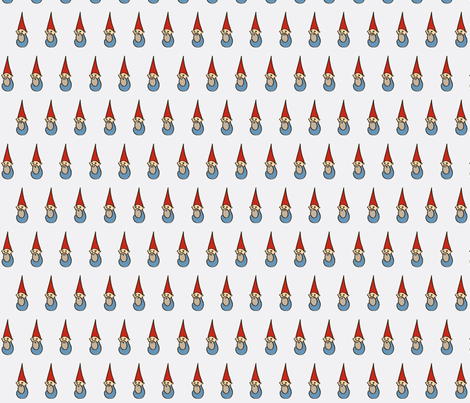 gnomes (grey) fabric by melbrooks on Spoonflower - custom fabric