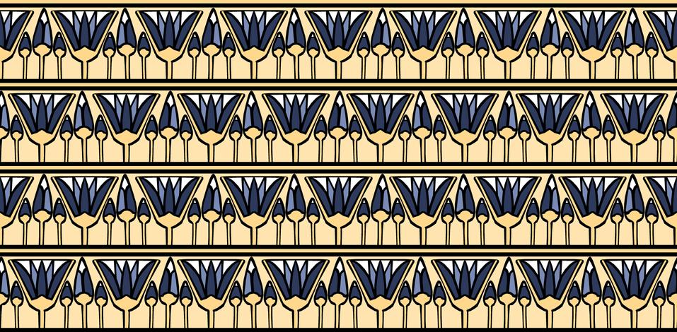 Blue Lotus fabric by pond_ripple on Spoonflower - custom fabric