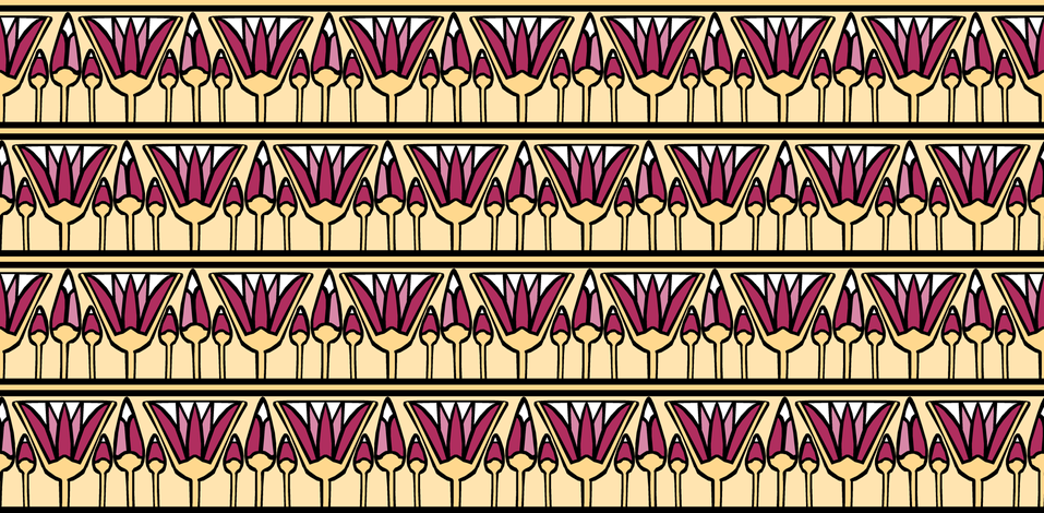 Pink Lotus fabric by pond_ripple on Spoonflower - custom fabric