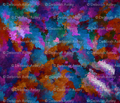Rainbow Explosion Fractal Waves