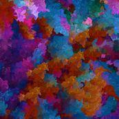 Rainbow Explosion Fractal Waves