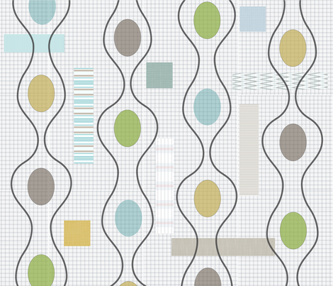 Modern_Abstract_Pod_Plaid fabric by the_spun_angora on Spoonflower - custom fabric