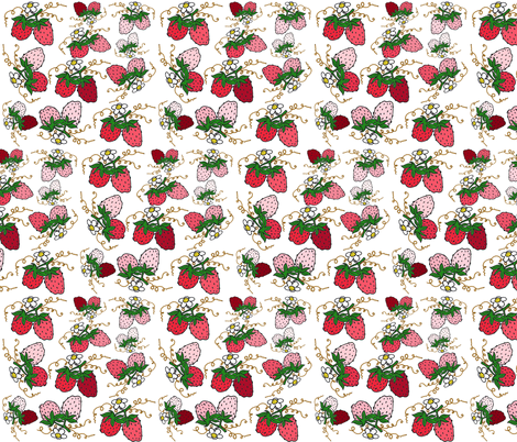 Strawberry fabric by graceful on Spoonflower - custom fabric
