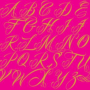 Fuschia Script Alphabet