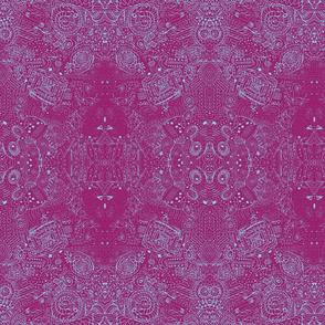 Blue Skies Grandma's Handkerchief Doodle Spiral Swirlygigs