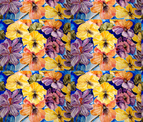 pansies_and_crocus_by_geaausten-d5xi53fn fabric by geaausten on Spoonflower - custom fabric