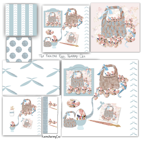 The Shabby Chic Painted Egg Fabric Collection