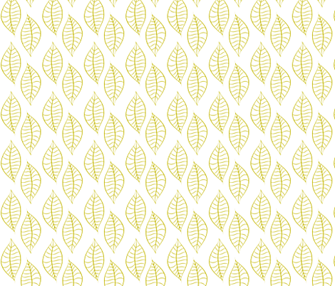 Leaves Citron Inverse fabric by ripdntorn on Spoonflower - custom fabric