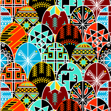 Pysanky Very Much! fabric by thirdhalfstudios on Spoonflower - custom fabric