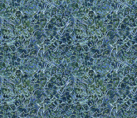 """Hydrangea Dark Blue"" fabric by jeanfogelberg on Spoonflower - custom fabric"