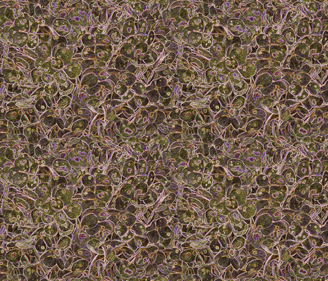 """Hydrangea Moss Rose"" fabric by jeanfogelberg on Spoonflower - custom fabric"